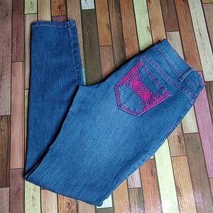 Bongo RARE Hot Pink Embellished Stretch Jeans